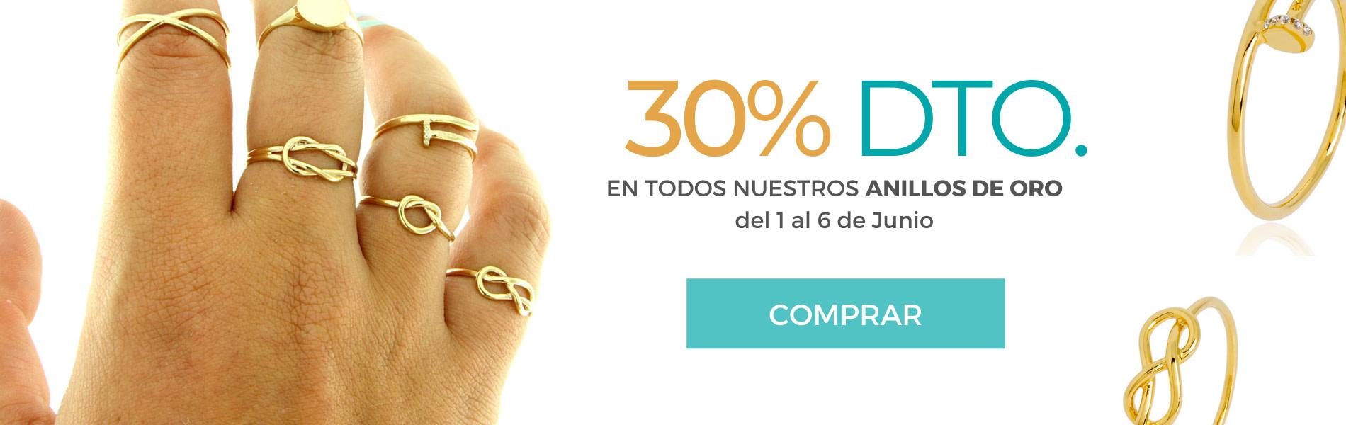 30% descuento en anillos de oro